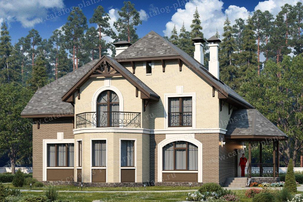 Проект жилой дом #60-44 материал - газобетон, стиль немецкий