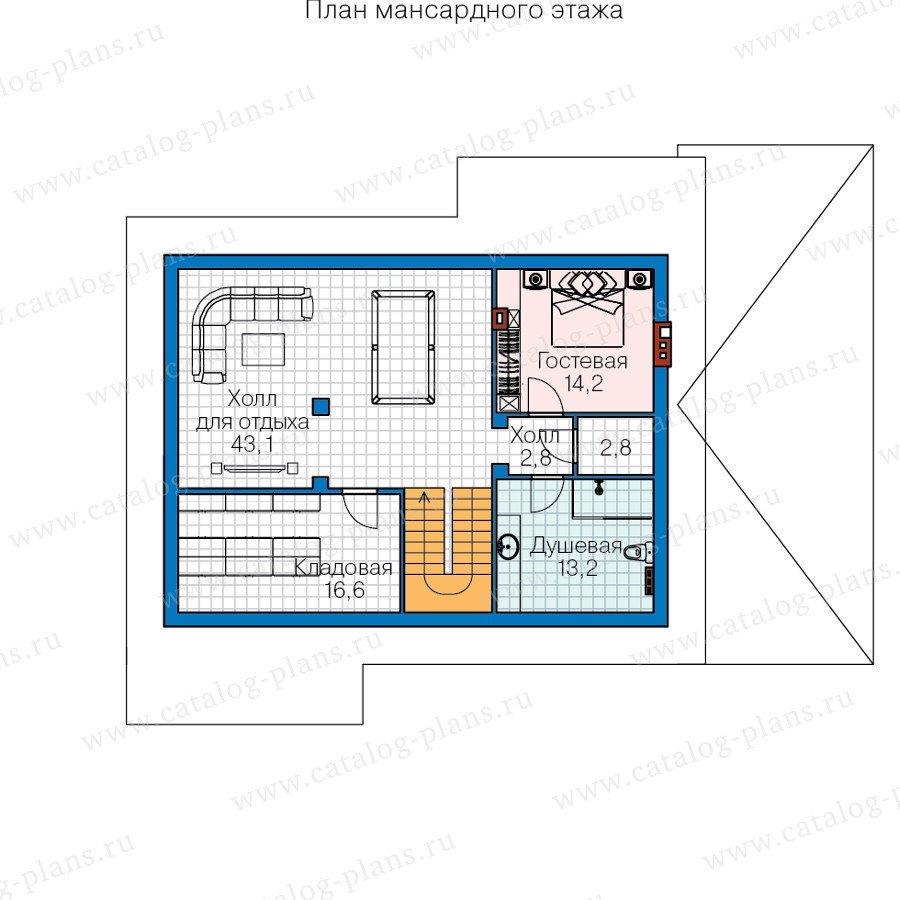 План 3-этажа проекта 60-39