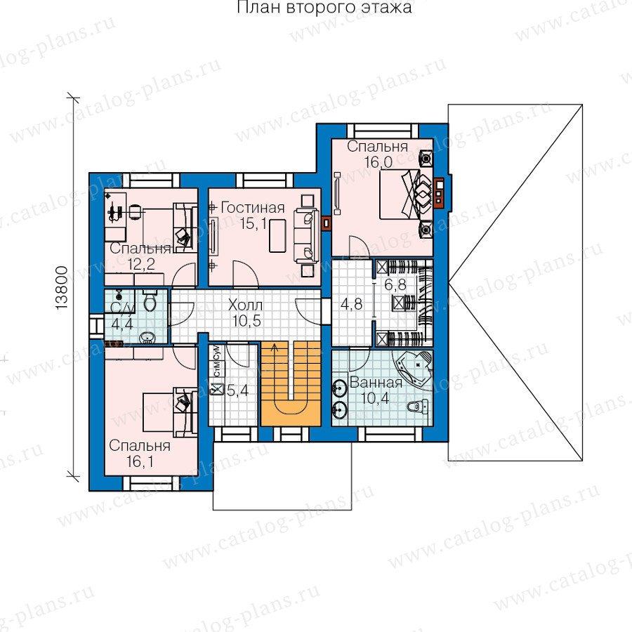 План 2-этажа проекта 60-39
