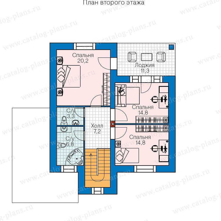 План 2-этажа проекта 60-41