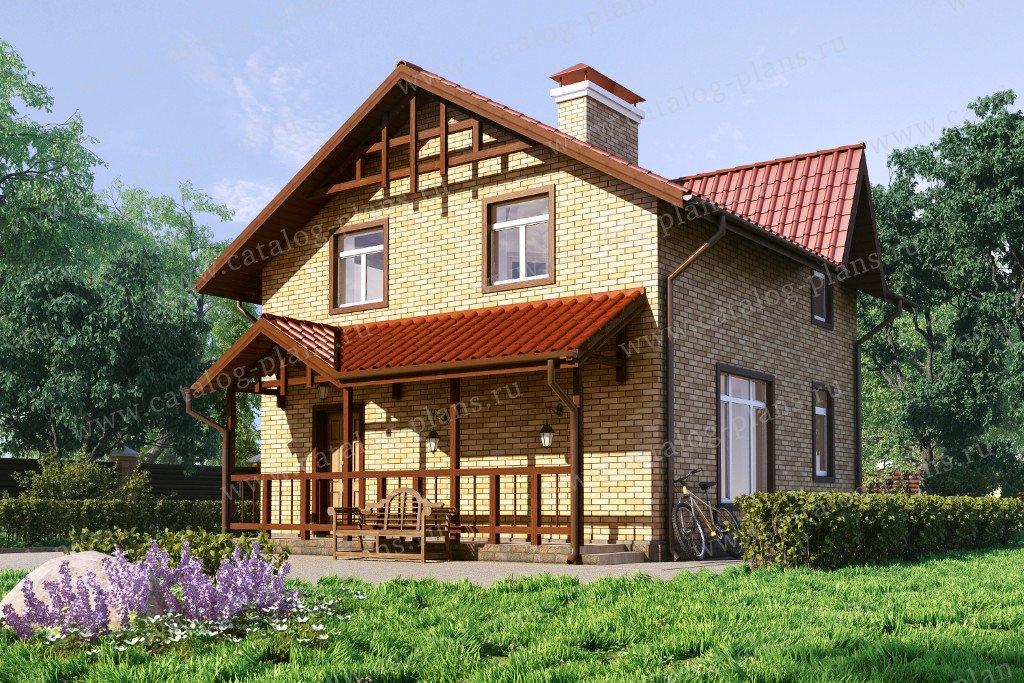 Проект жилой дом #60-36 материал - газобетон, стиль европейский