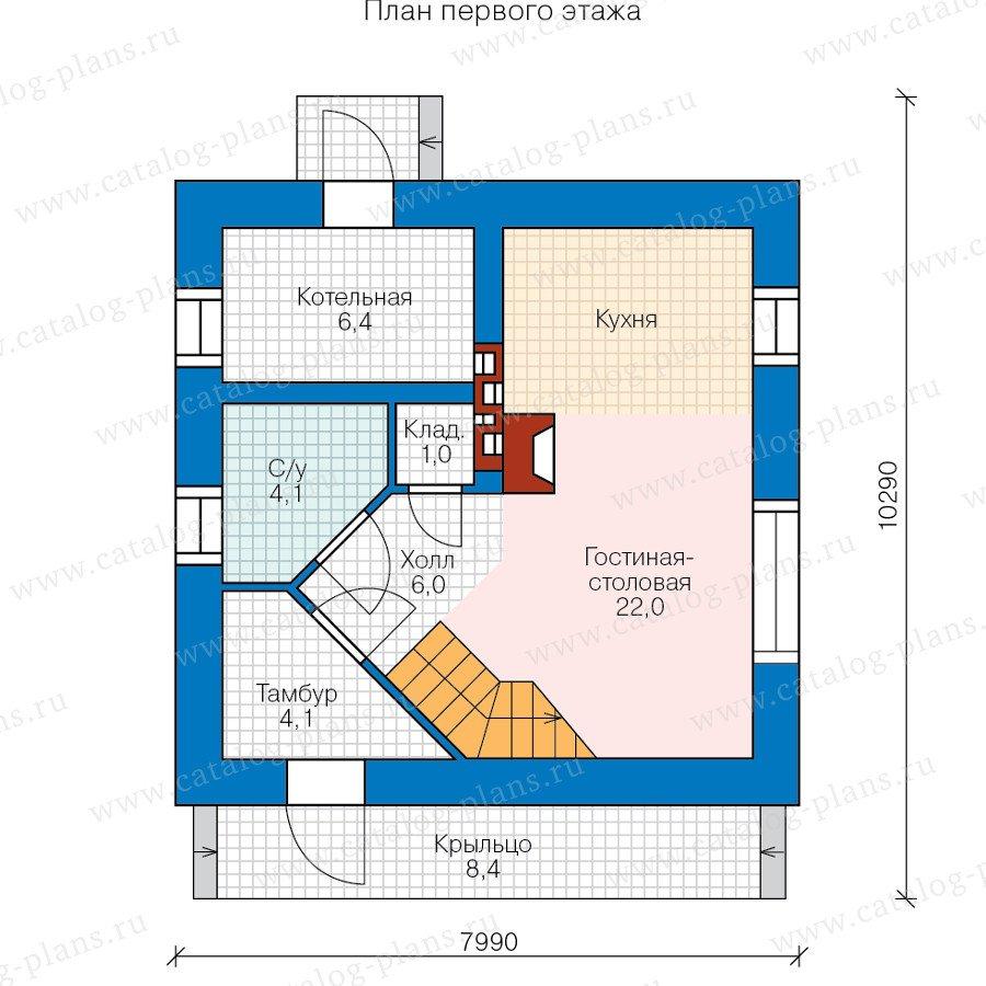 План 1-этажа проекта 60-36