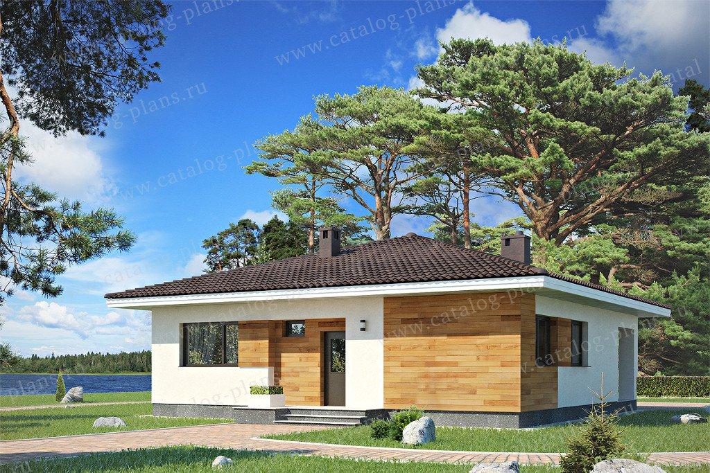 Проект жилой дом #60-27 материал - газобетон, стиль хай-тек