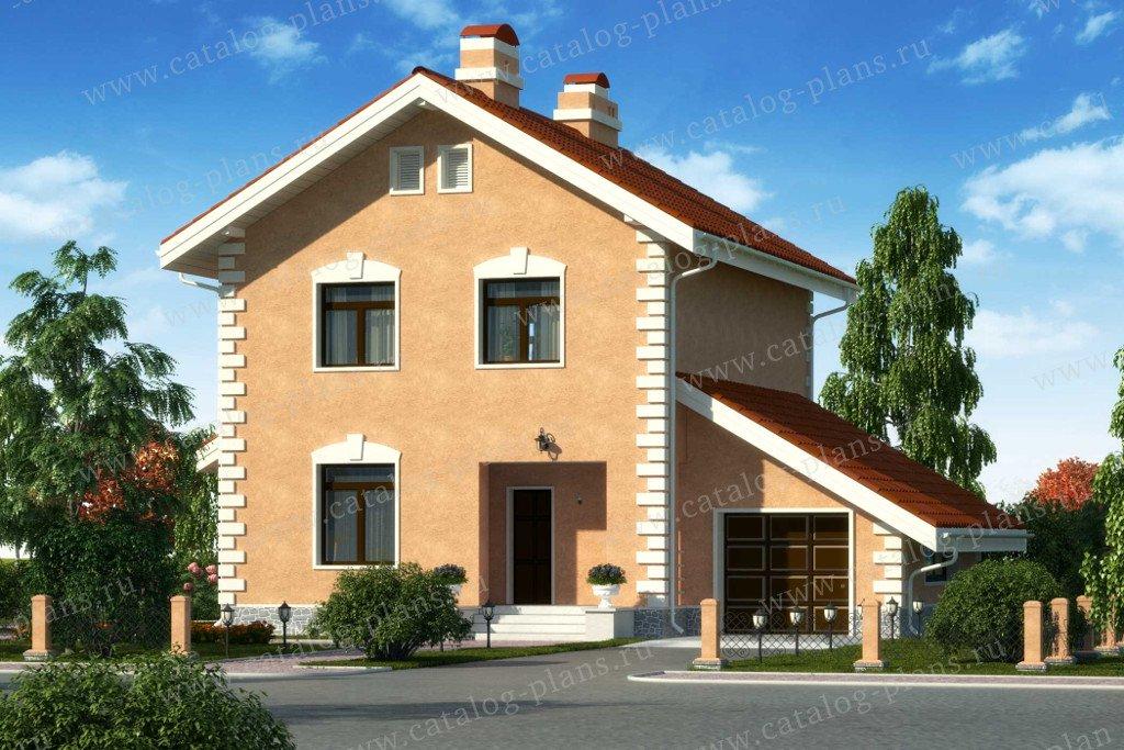 Проект жилой дом #60-35 материал - газобетон, стиль европейский