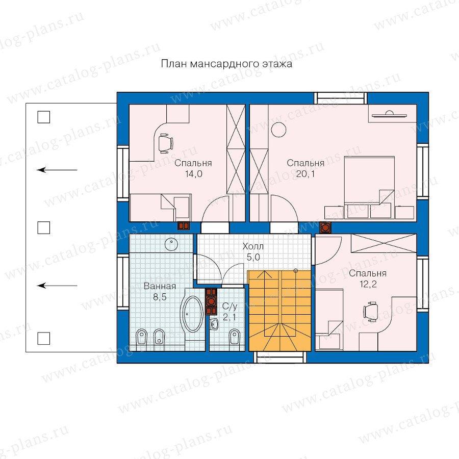 План 2-этажа проекта 60-26