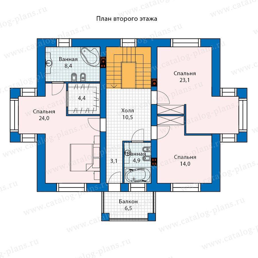 План 2-этажа проекта 60-25