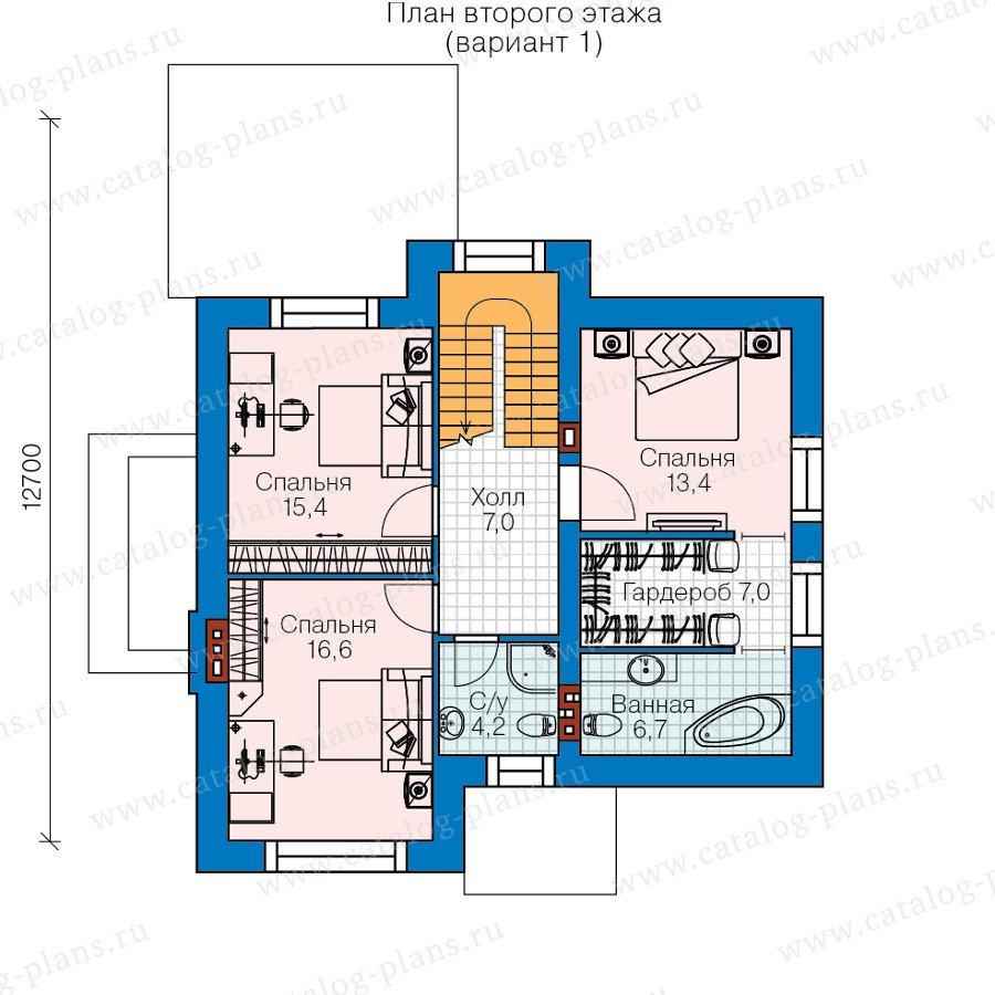 План 2-этажа проекта 60-37