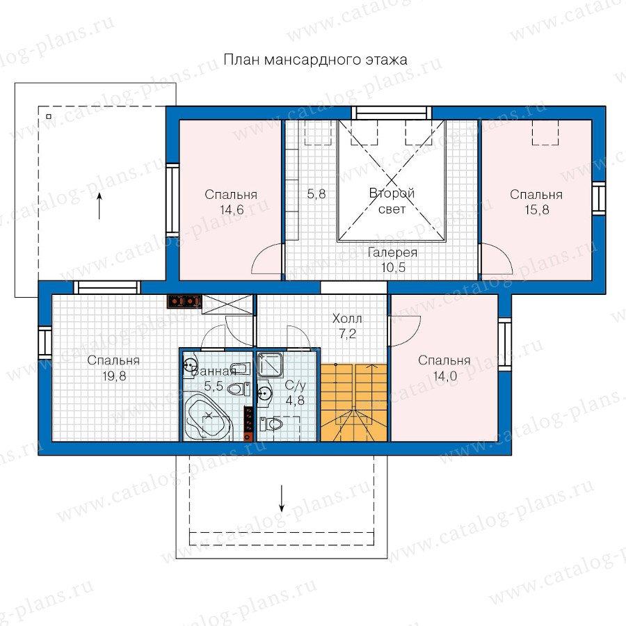 План 2-этажа проекта 60-28