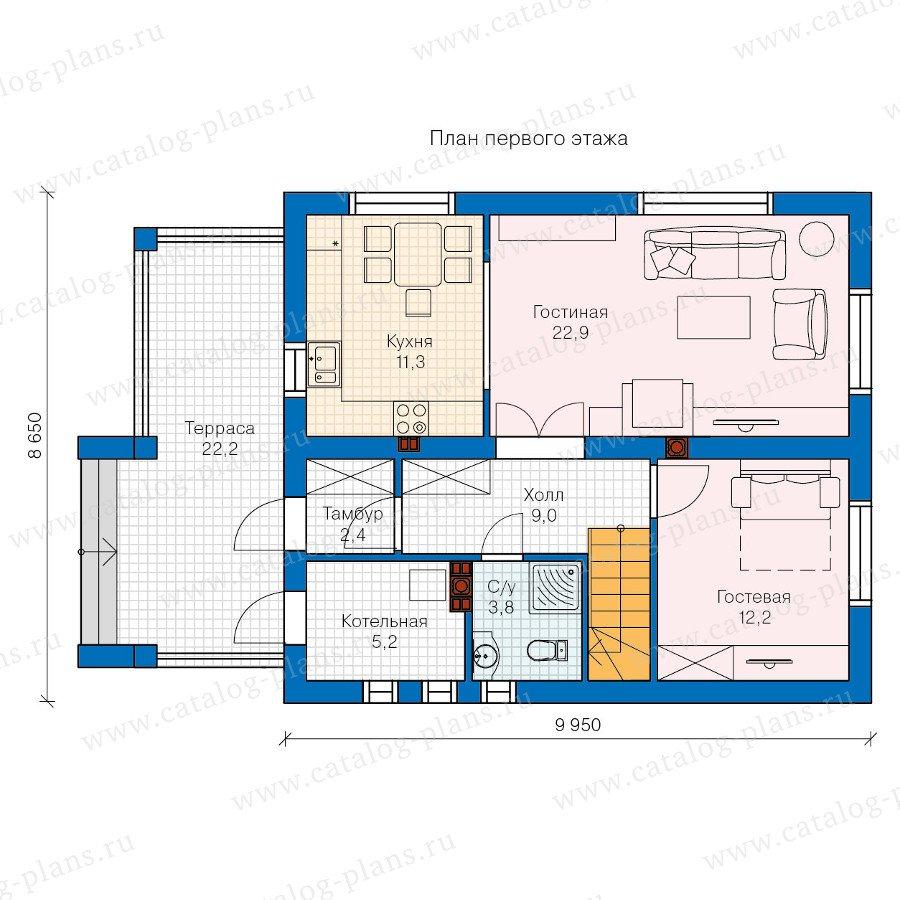 План 1-этажа проекта 60-26