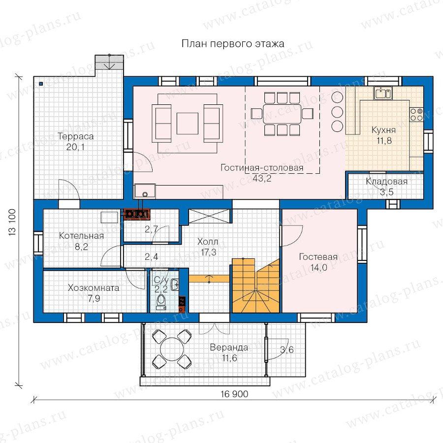 План 1-этажа проекта 60-28