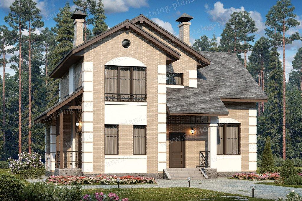 Проект жилой дом #60-37 материал - газобетон, стиль европейский