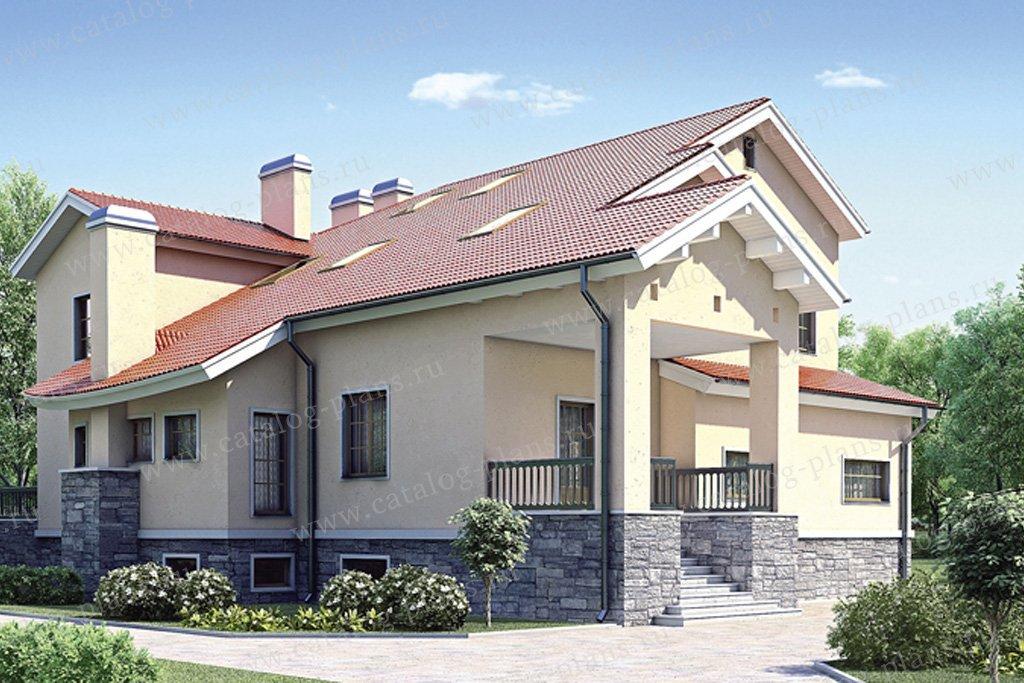 Проект жилой дом #35-28 материал - кирпич, стиль современный