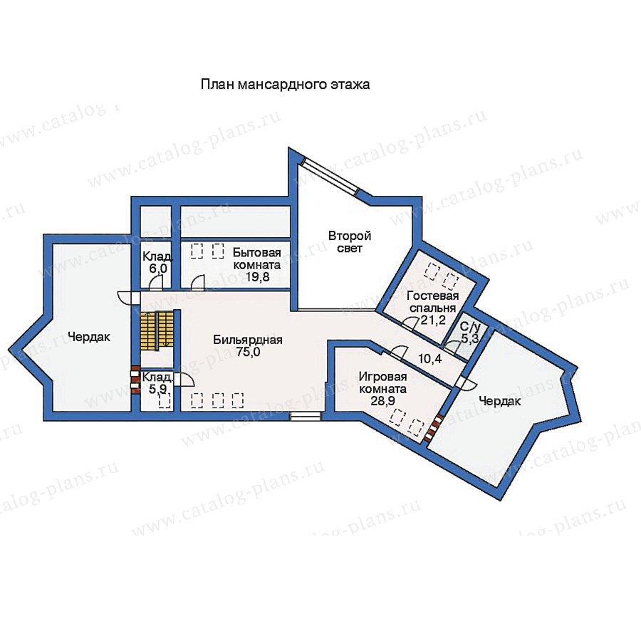 План 2-этажа проекта 35-54