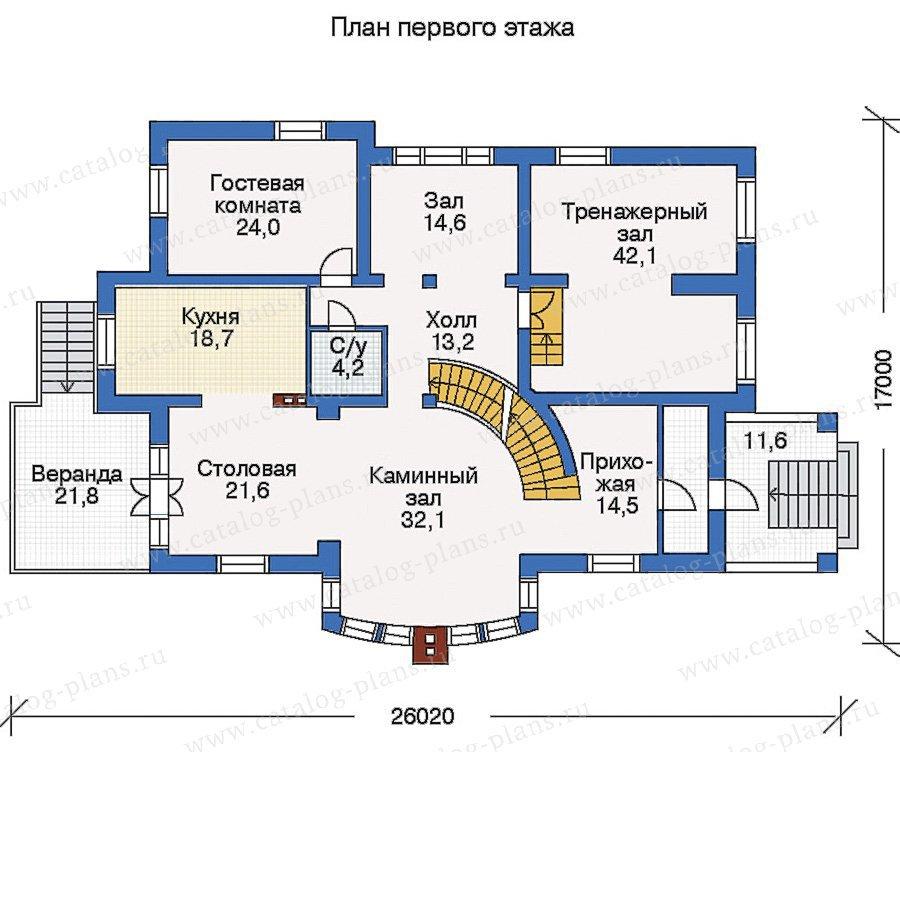 План 2-этажа проекта 35-28