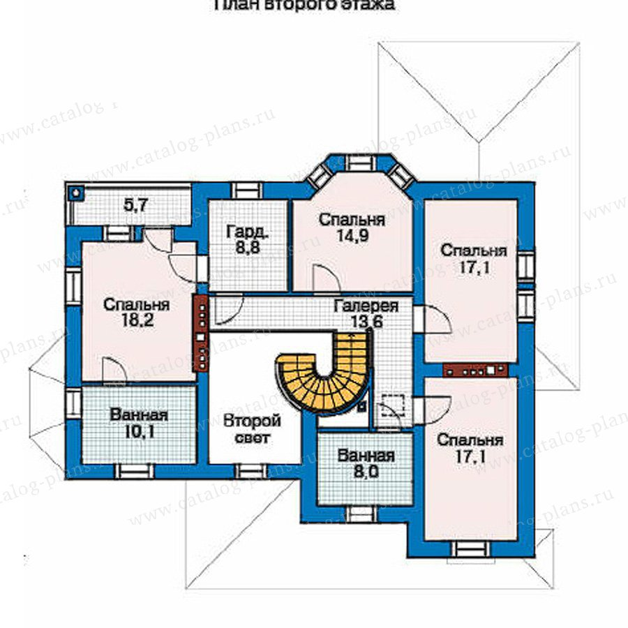План 3-этажа проекта 35-89