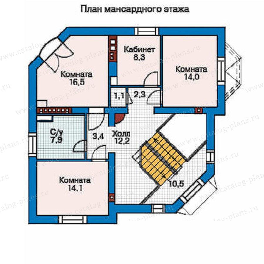 План 3-этажа проекта 35-86
