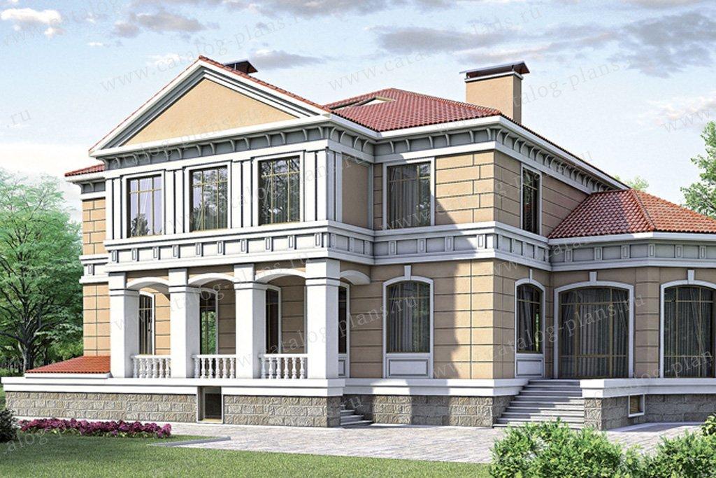 Проект жилой дом #35-26 материал - кирпич, стиль итальянский