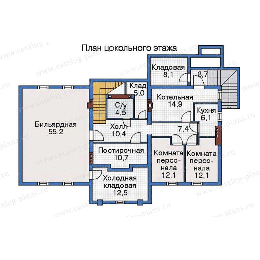 План 1-этажа проекта 35-80