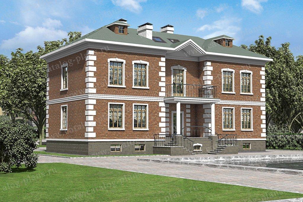 Проект жилой дом #35-80 материал - кирпич, стиль английский