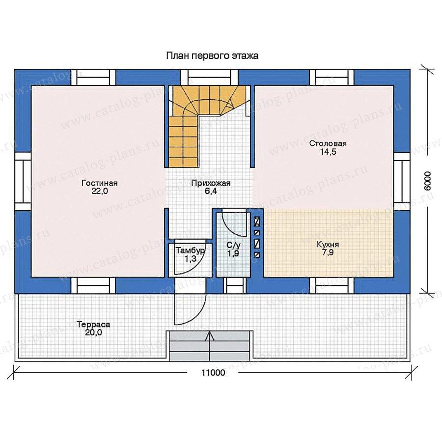 План 1-этажа проекта 35-39