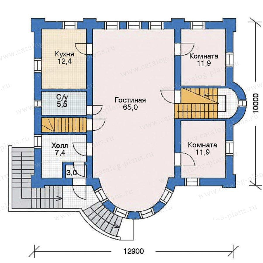 План 2-этажа проекта 35-47