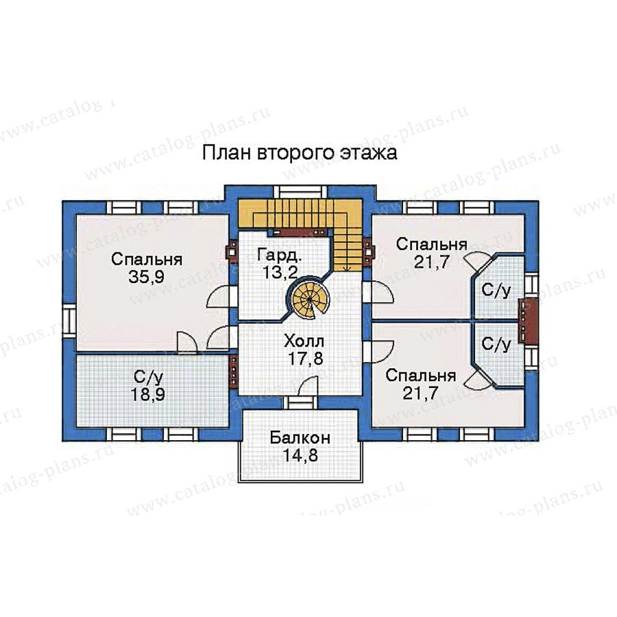 План 3-этажа проекта 35-80