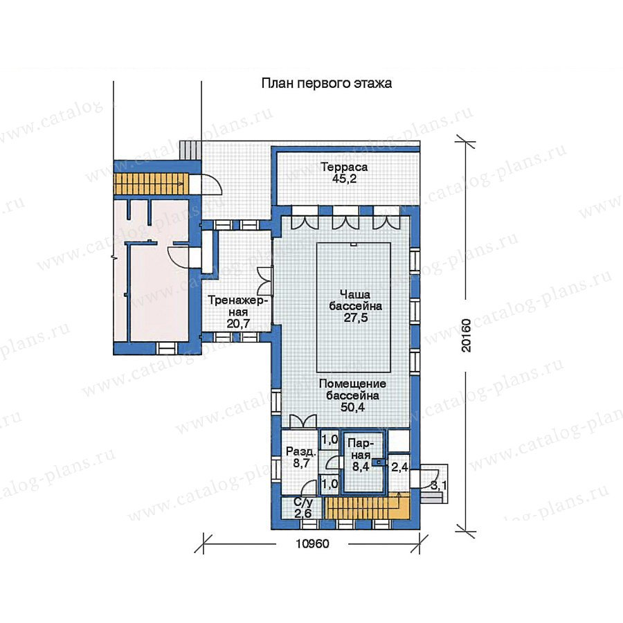 План 2-этажа проекта 35-99