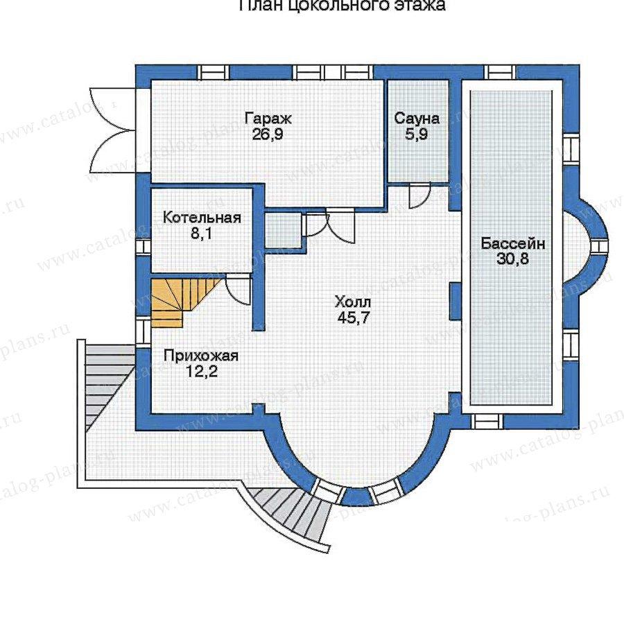План 1-этажа проекта 35-47