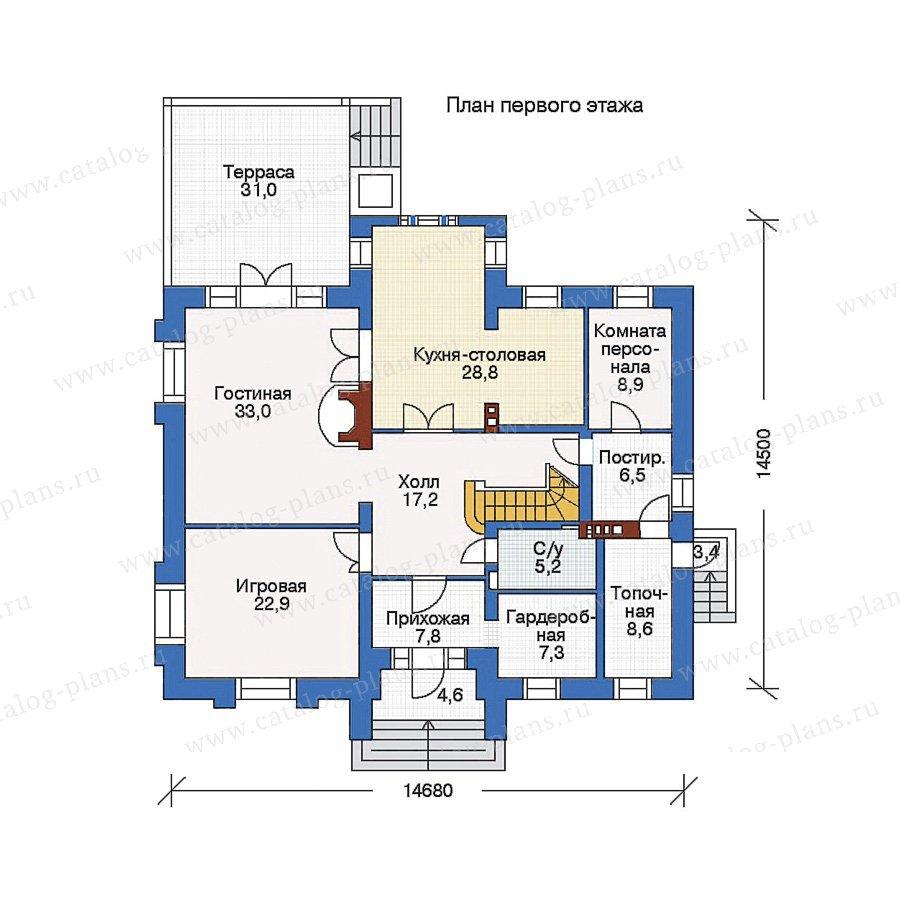 План 1-этажа проекта 35-21
