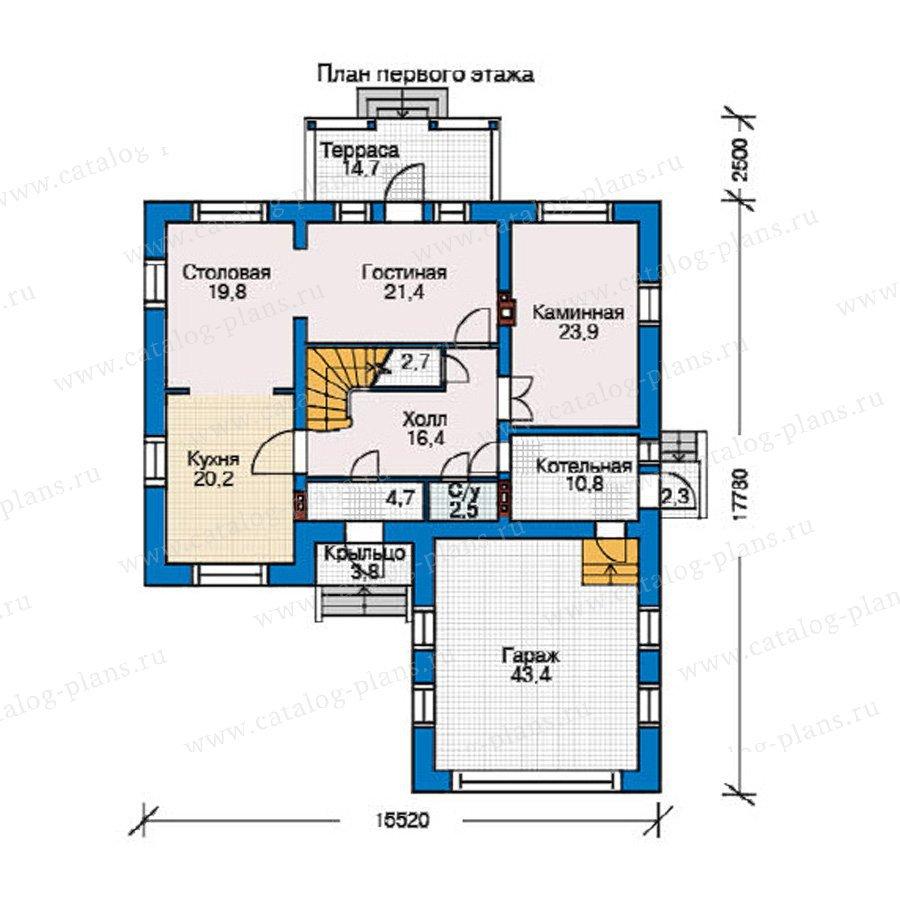 План 1-этажа проекта 35-22