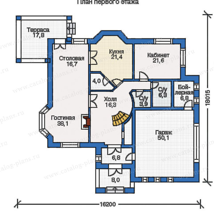 План 1-этажа проекта 35-09