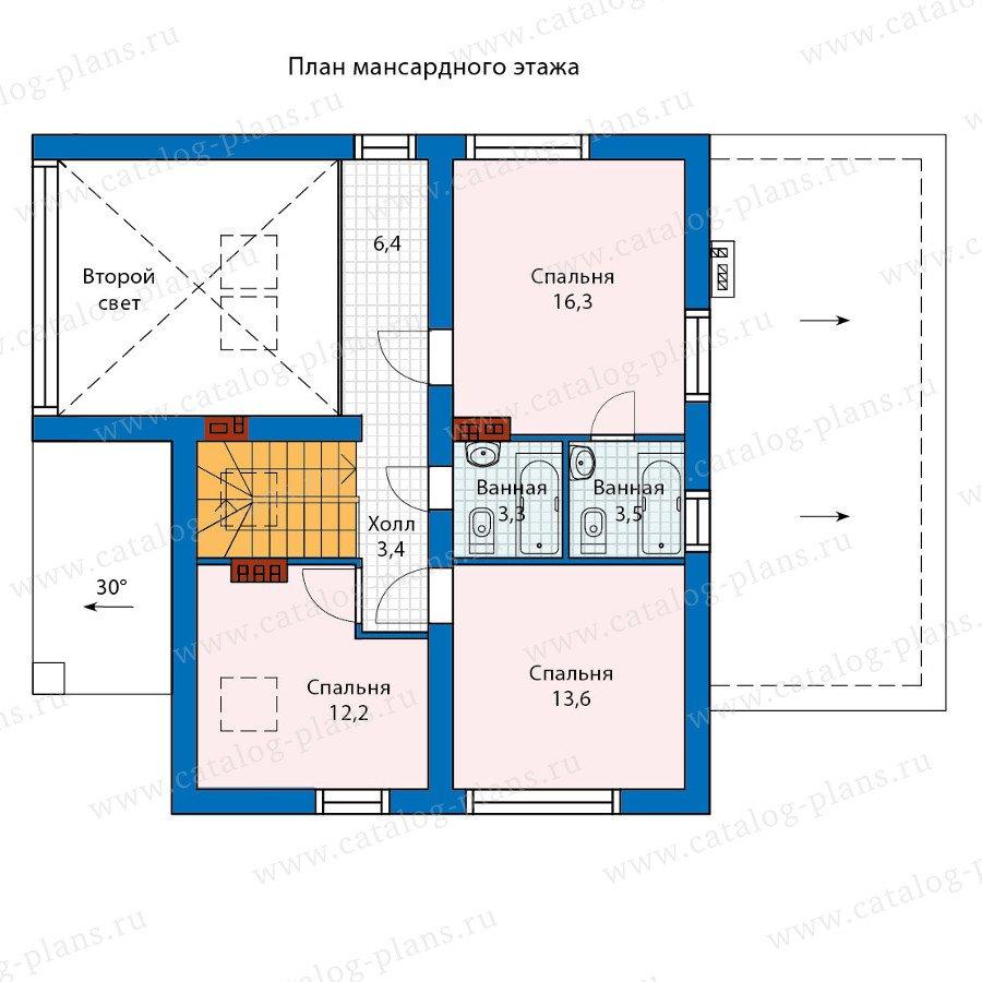 План 2-этажа проекта 60-24