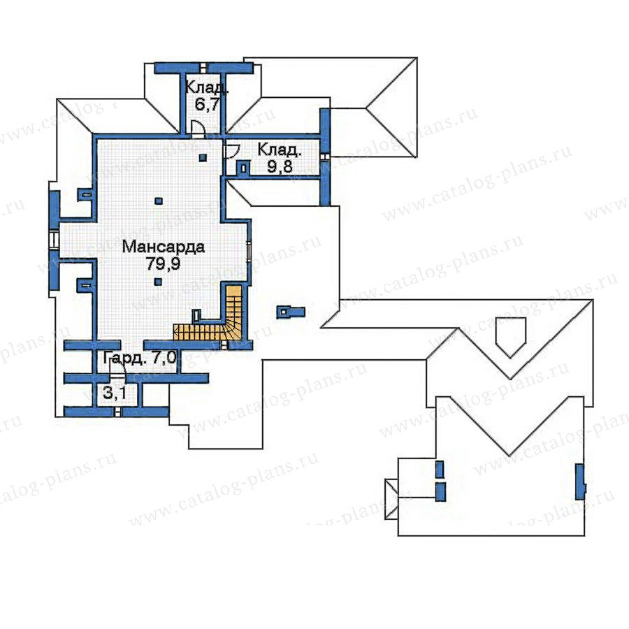 План 3-этажа проекта 35-72