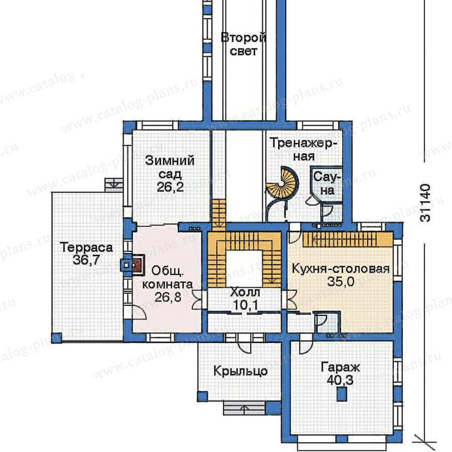 План 2-этажа проекта 35-67
