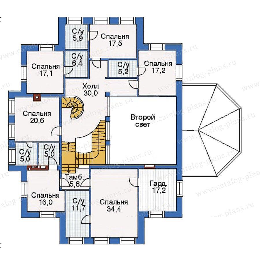 План 3-этажа проекта 35-26