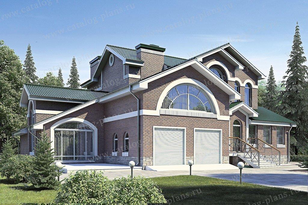 Проект жилой дом #35-83 материал - кирпич, стиль модерн