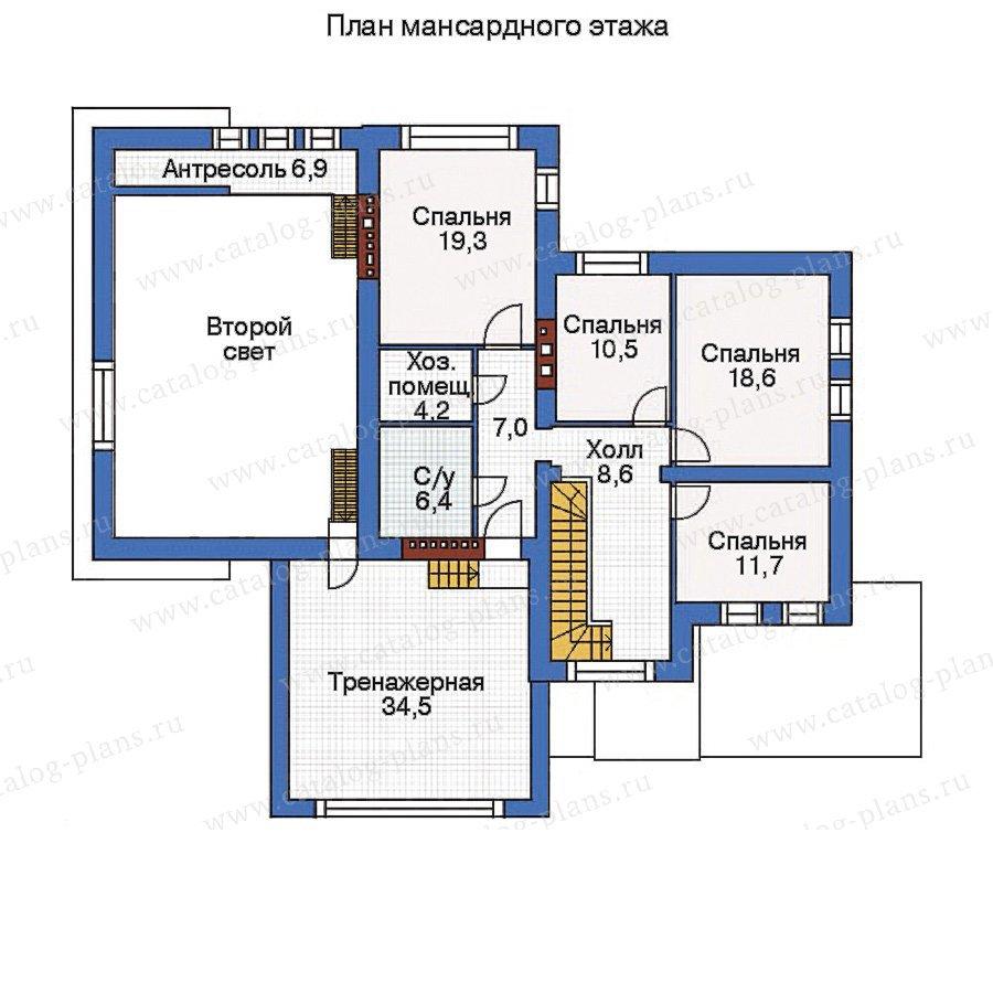План 3-этажа проекта 35-83