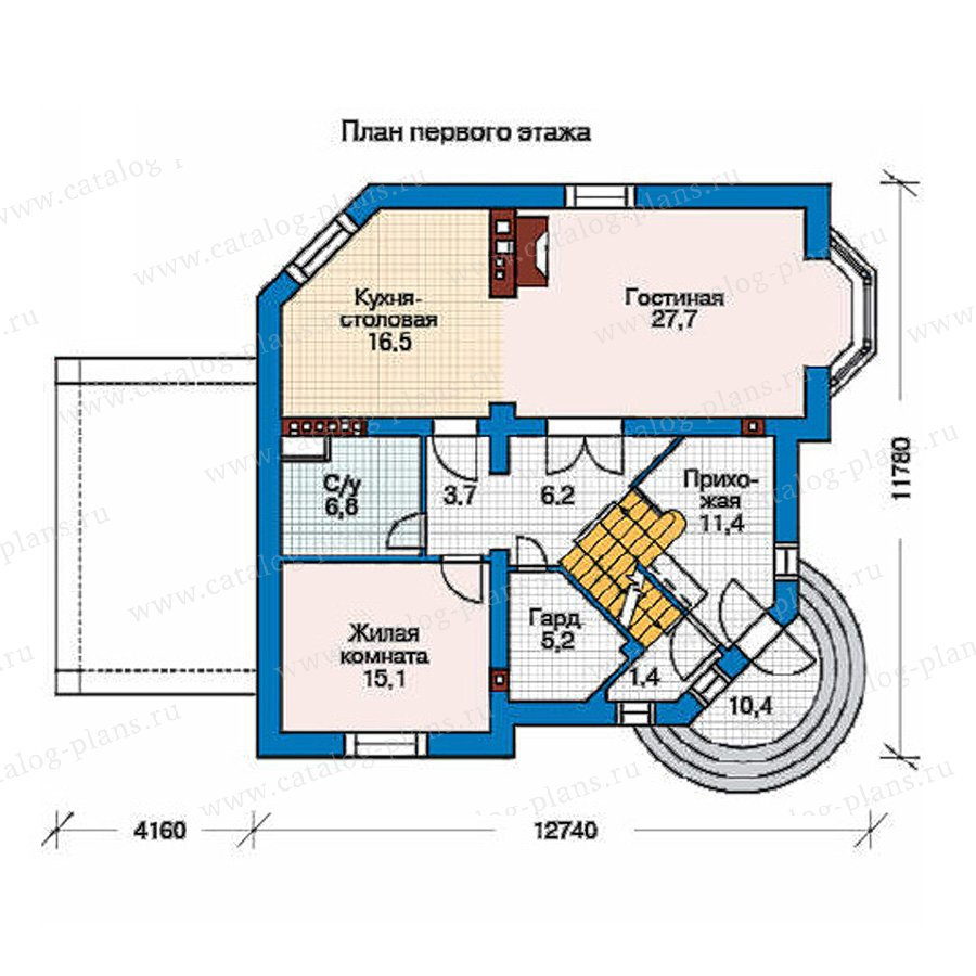 План 2-этажа проекта 35-86