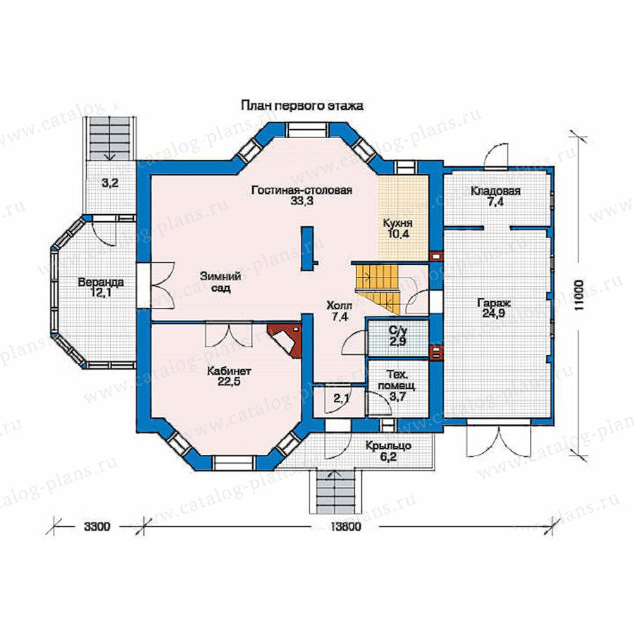 План 1-этажа проекта 35-73