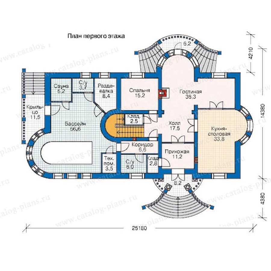 План 1-этажа проекта 35-32
