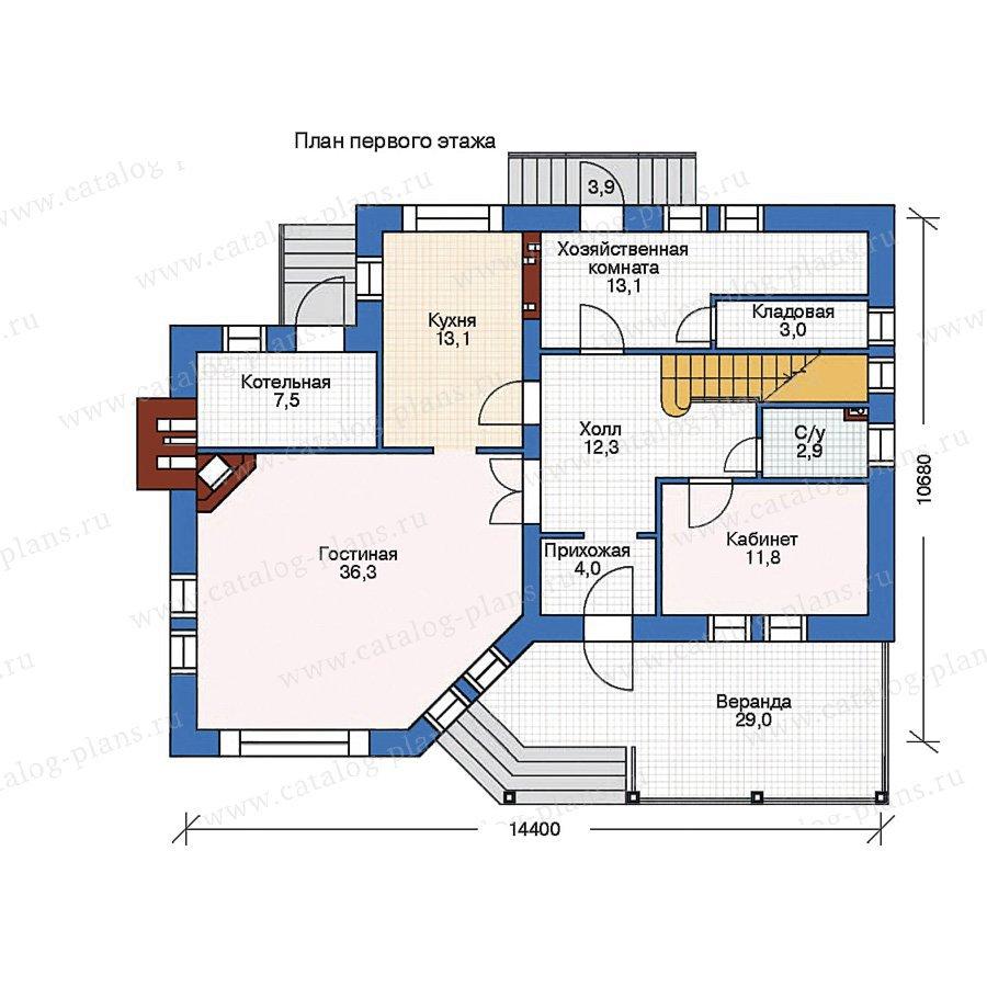 План 1-этажа проекта 35-84