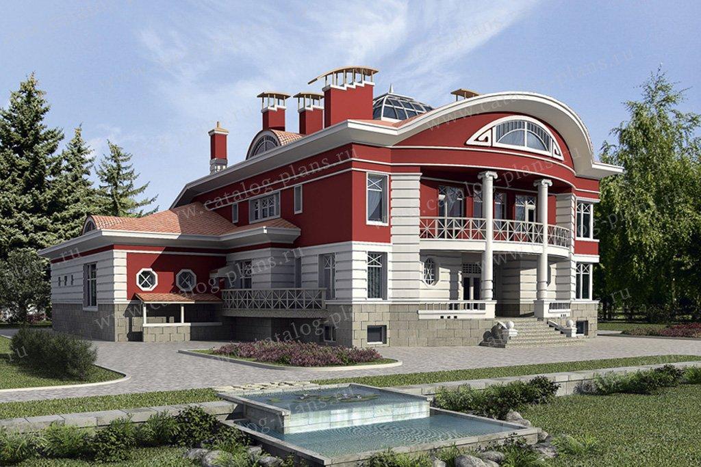Проект жилой дом #35-33 материал - кирпич, стиль классический