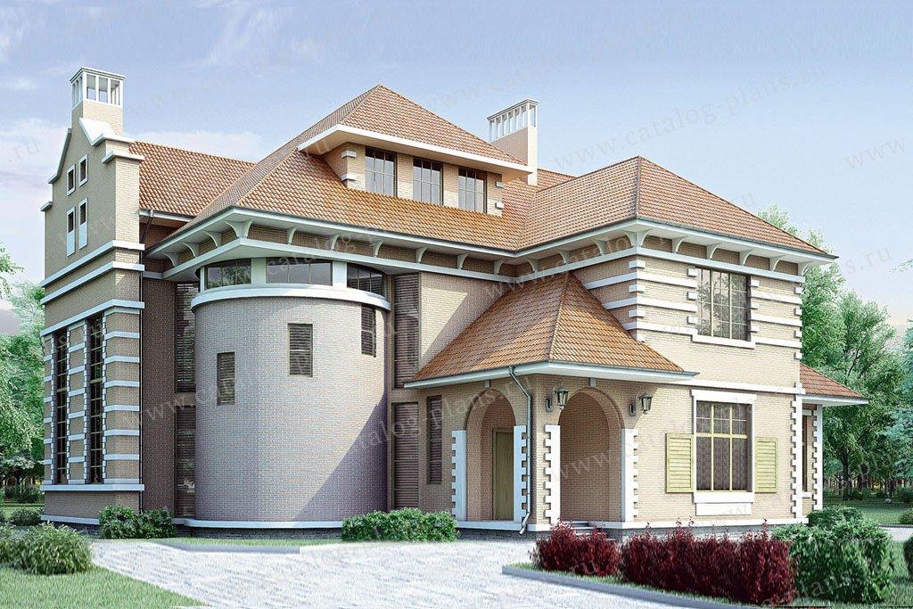 Проект жилой дом #35-07 материал - кирпич, стиль итальянский
