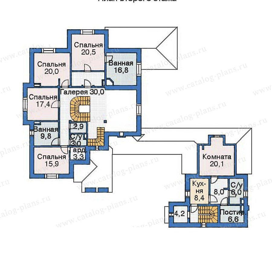 План 2-этажа проекта 35-72