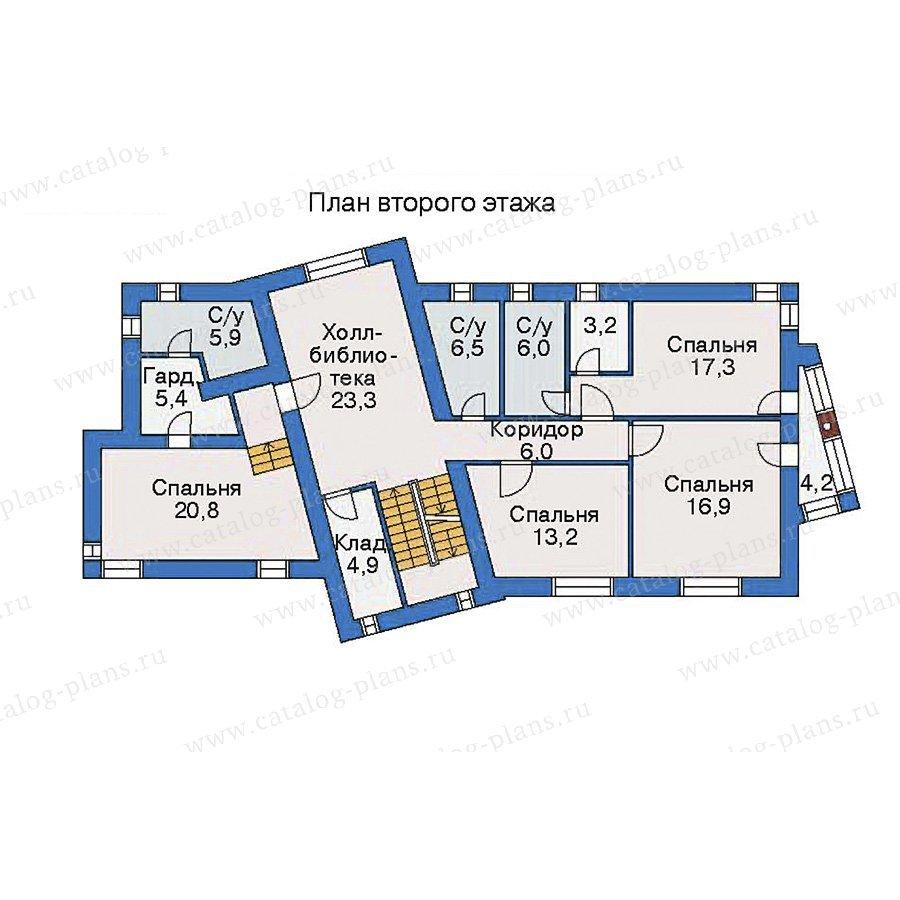 План 2-этажа проекта 35-53