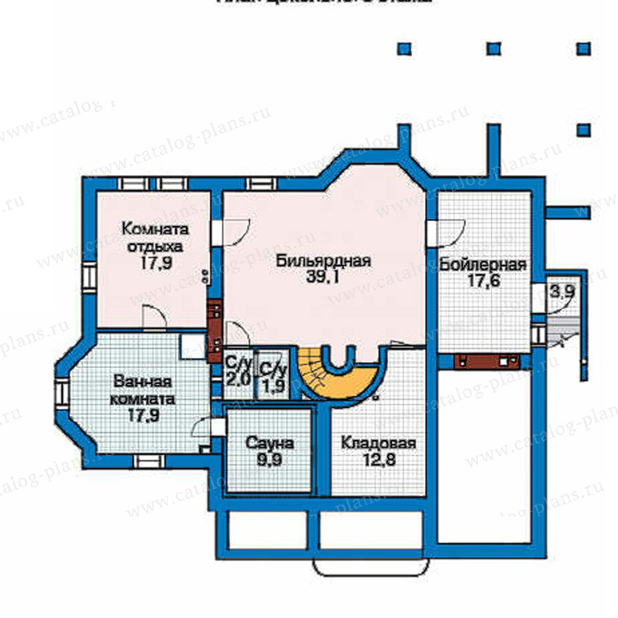 План 1-этажа проекта 35-89