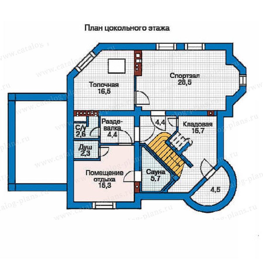 План 1-этажа проекта 35-86