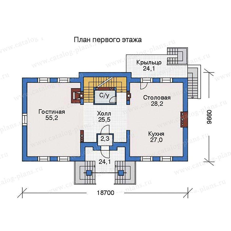 План 2-этажа проекта 35-80