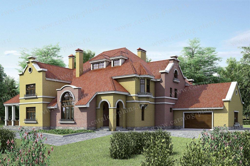 Проект жилой дом #35-17 материал - кирпич, стиль европейский