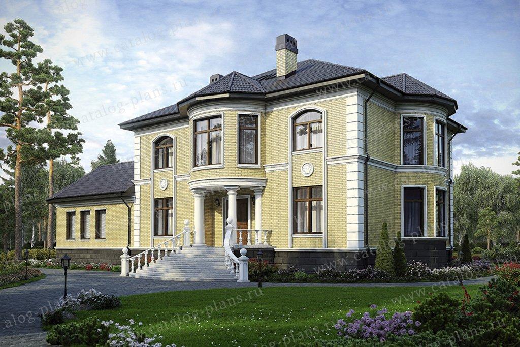 Проект жилой дом #35-32 материал - кирпич, стиль классический